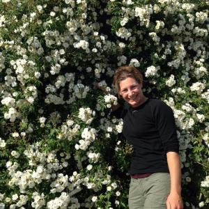 In front of my 'Rambling Rector'